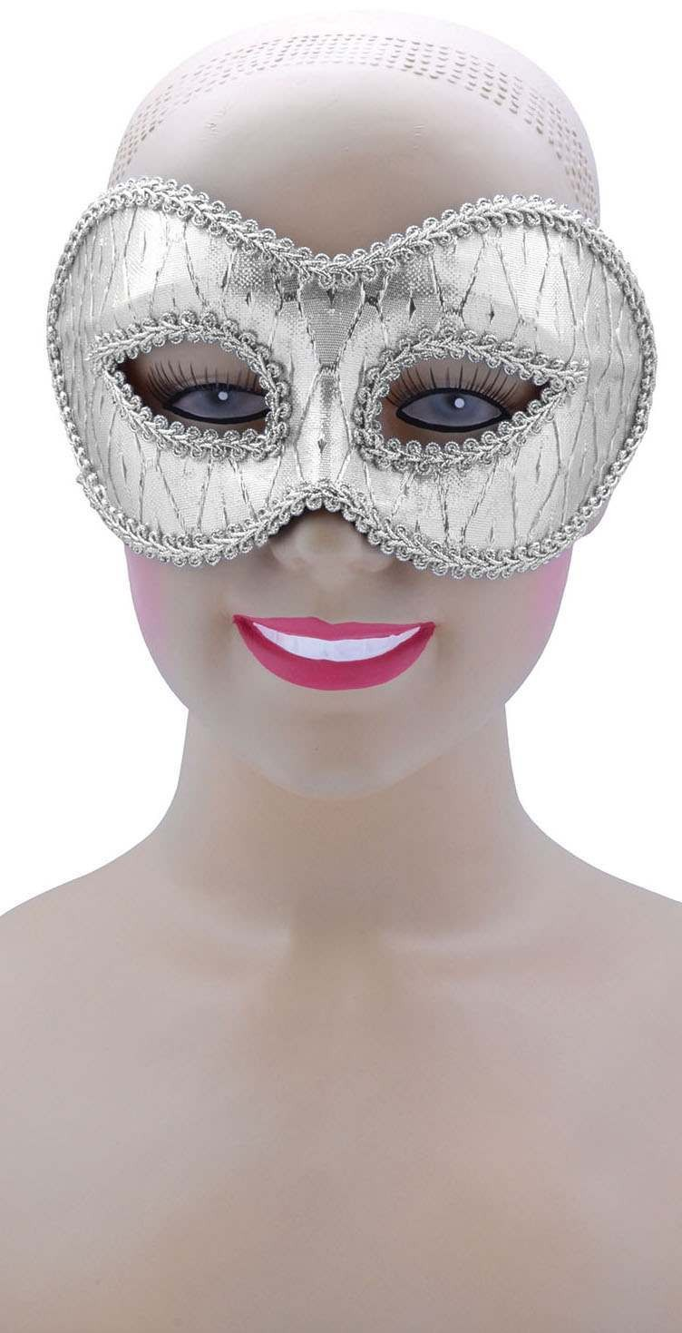 Ladies Silver Patterned (Glasses Style) Eyemask