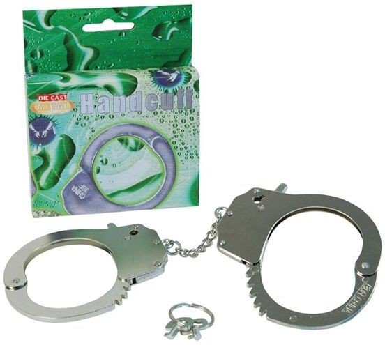 Handcuffs Metal - Boxed (Cops/Robbers Fancy Dress)