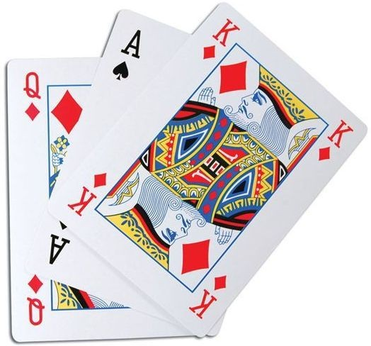 Playing Cards. Extra Large (A4) (Fancy Dress Tricks)