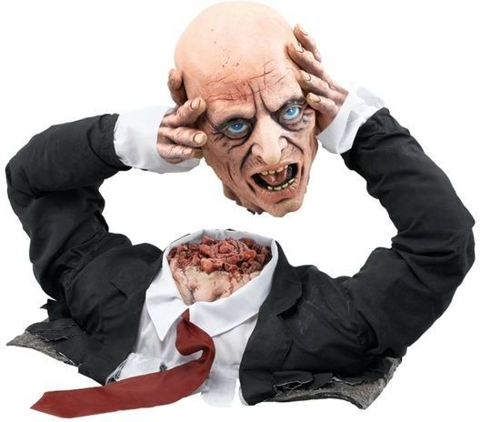 Cut Off Corpse Head Display (Halloween Decorations)