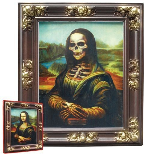 Lenticular Frame. Mona Lisa (Halloween Decorations)