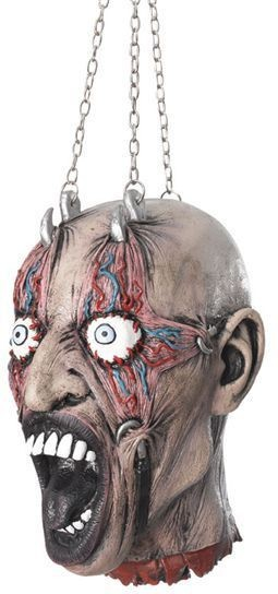 Cut Off Head In Chains (Halloween Decorations)