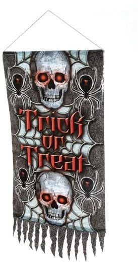 Hanging Trick Or Treat Banner (Halloween Decorations)