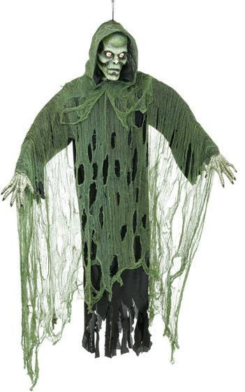 Hanging Zombie Prop. Green (Halloween Decorations)
