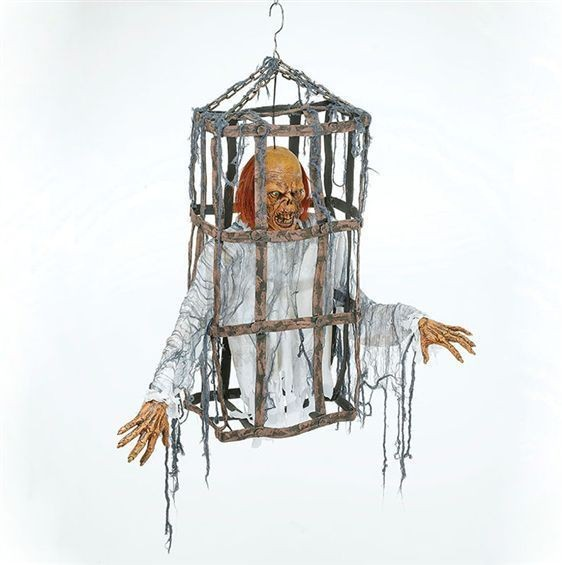 Corpse Torso In Cage (Halloween Decorations)
