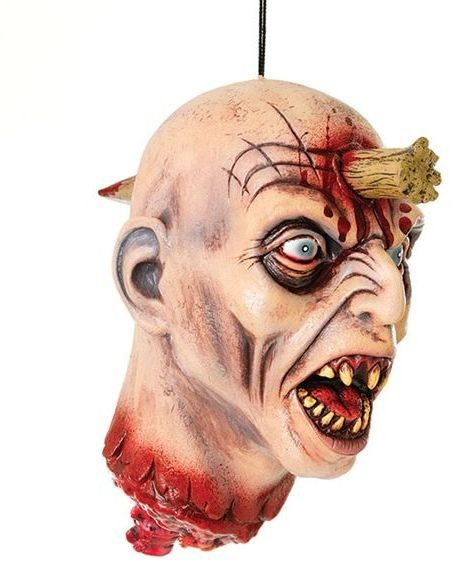 Hanging Head And Wooden Stake (Halloween Decorations)
