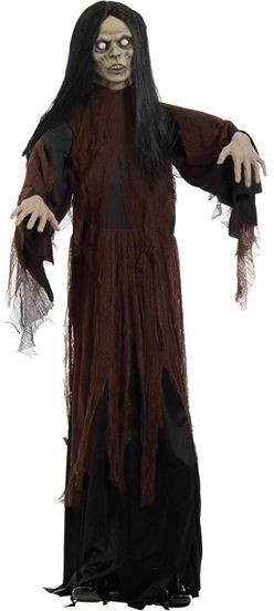 Zombie 6Ft Female Prop (Halloween Decorations)