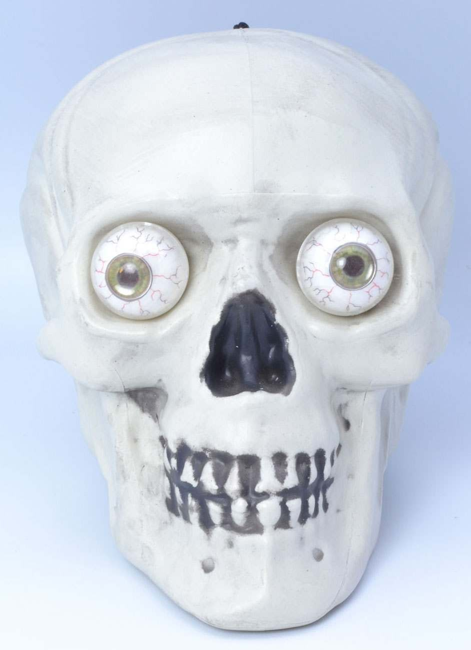 Skull Hanging W/Light Up Eyes- Fancy Dress Halloween