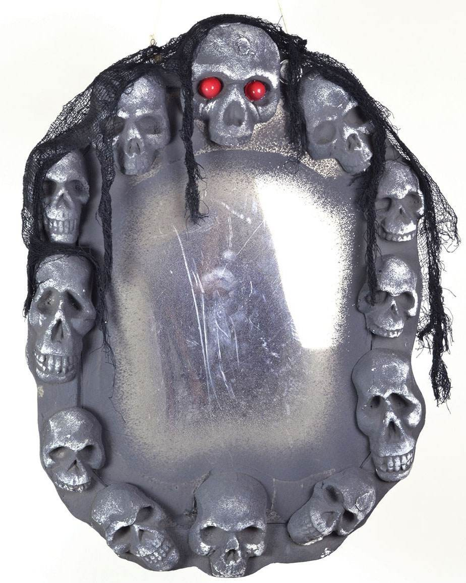 Skull Mirror With Sound- Fancy Dress Halloween