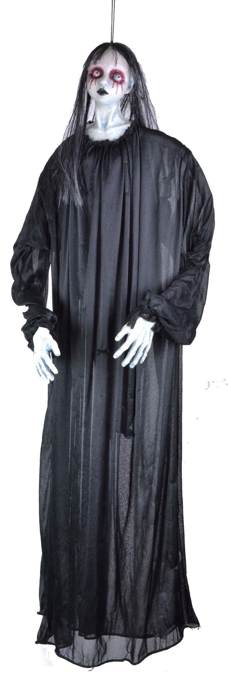 "Hanging Female Ghost Black 48""- Fancy Dress Halloween"