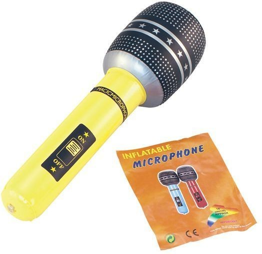 "Inflatable Microphone 18"" (Music Fancy Dress Inflatables)"