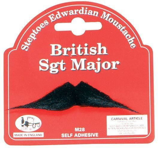 British Sgt Major Moustache (Fancy Dress Facial Hair)