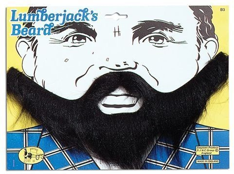 Lumberjack Beard. Black (Fancy Dress Facial Hair)