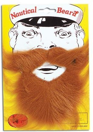 Nautical Beard. Brown (Sailor Fancy Dress Facial Hair)