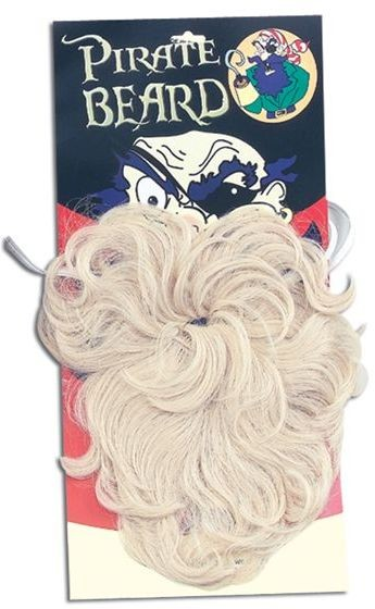 Pirate Beard. Wavy Blonde (Pirates Fancy Dress Facial Hair)