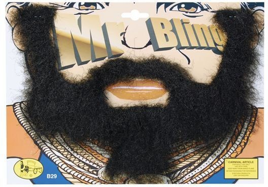 Mr Bling Beard (1980S Fancy Dress Facial Hair)