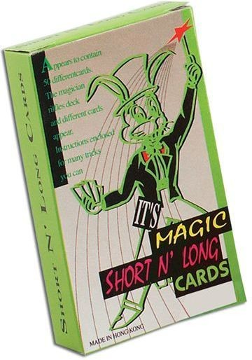 Trick Pack/Cards.Svengali Long/Short (Fancy Dress Tricks)