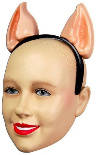 Animal Ears Pig. Plastic H'Band (Animals Fancy Dress Disguises)