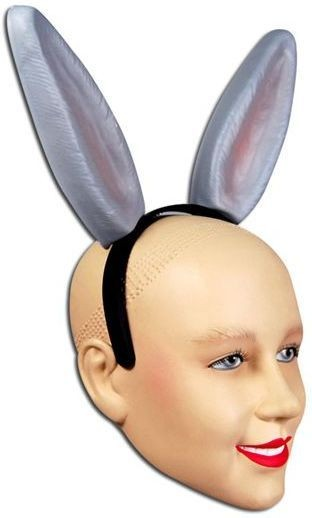 Animal Ears Donkey Plastic H'Band (Animals Fancy Dress Disguises)