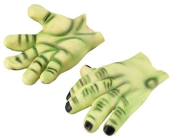 Hands. Giant Green Vinyl (Halloween Gloves)