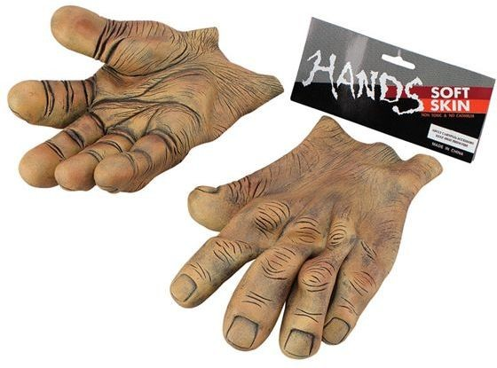 Hands. Giant Brown Vinyl (Halloween Gloves)