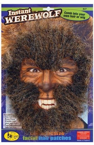 Instant Werewolf Face Hair Kit Largest Online Fancy Dress Range In The Uk Price Guarantee Free Delivery