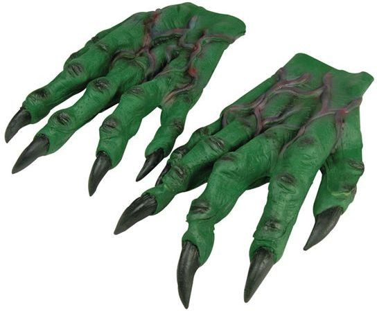 Horror Hands. Green (Halloween Gloves)