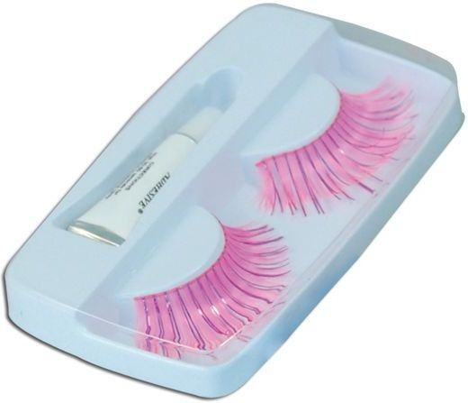 Eyelashes. Pink (Sexy Fancy Dress Eyelashes)
