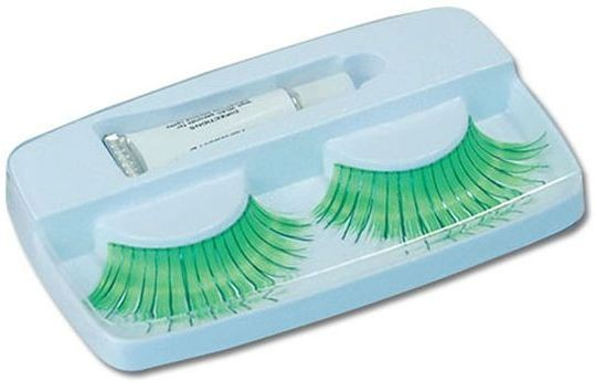 Eyelashes. Green (Sexy Fancy Dress Eyelashes)