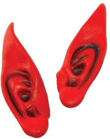 Pointed Ears. Red (Halloween Fancy Dress)