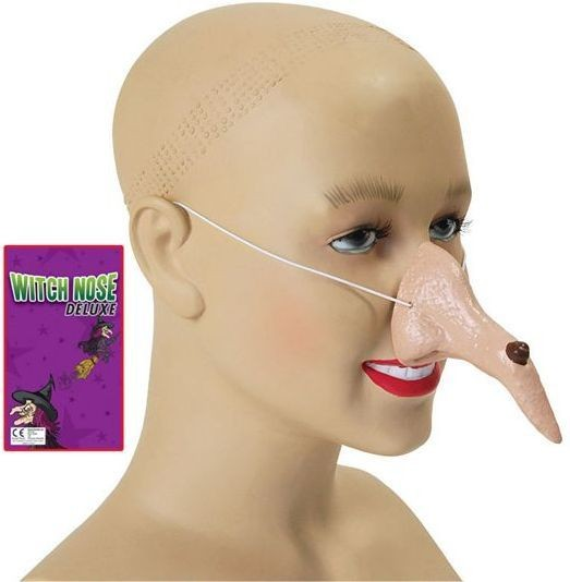 Witch Nose (Adult Size) Deluxe (Halloween Disguises)