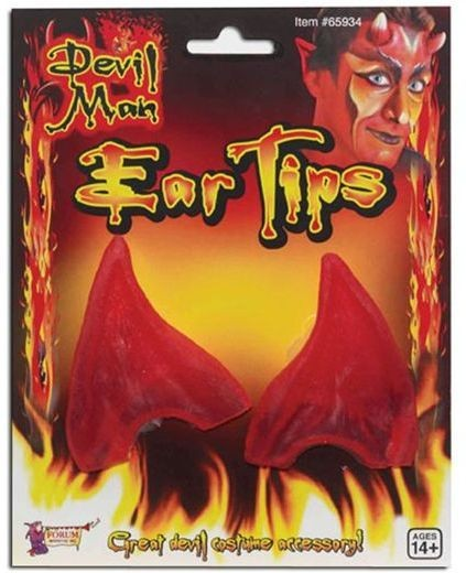 Devil Ear Tips. Red (Halloween Disguises)