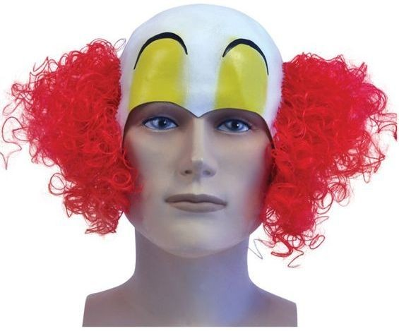 Clown Headpiece. Rubber (Clowns Fancy Dress Disguises)