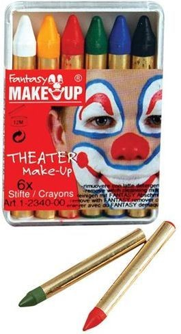 Bela Greasepaint. 6 Sticks/Box (Clowns Fancy Dress Face Paint)
