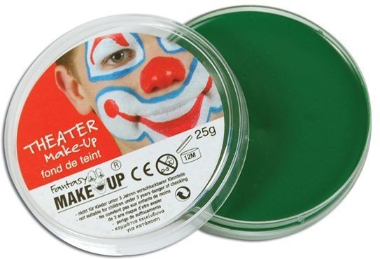 Body Green Makeup In Compact (Clowns , Halloween Face Paint)