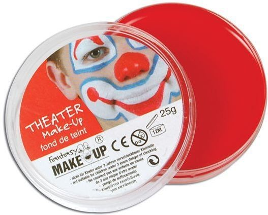 Body Red Makeup In Compacts (Clowns , Halloween Face Paint)