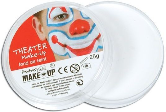 Body White Makeup In Compacts (Clowns , Halloween Face Paint)