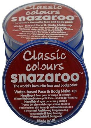 Snazaroo Red 18 Ml Tubs (Clowns , Halloween Face Paint)
