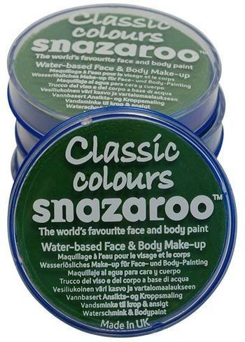 Snazaroo Bright Green18Ml Tubs (Clowns Fancy Dress Face Paint)
