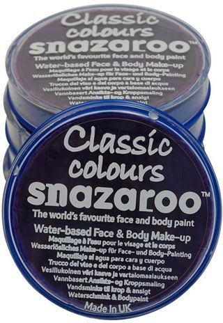 Snazaroo Purple 18 Ml Tubs (Clowns Fancy Dress Face Paint)