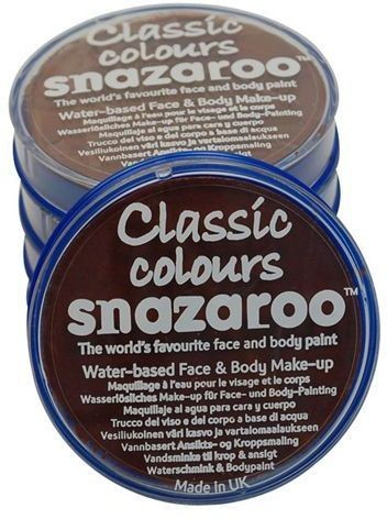 Snazaroo Light Brown 18Ml Tubs (Clowns Fancy Dress Face Paint)