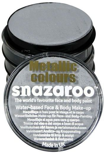 Snazaroo Silver 18Ml Tubs (Clowns Fancy Dress Face Paint)