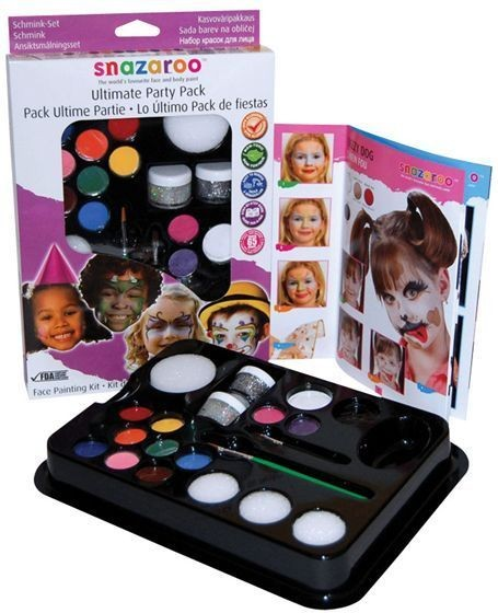 Snazaroo Party Makeup Kit (Clowns Fancy Dress Face Paint)