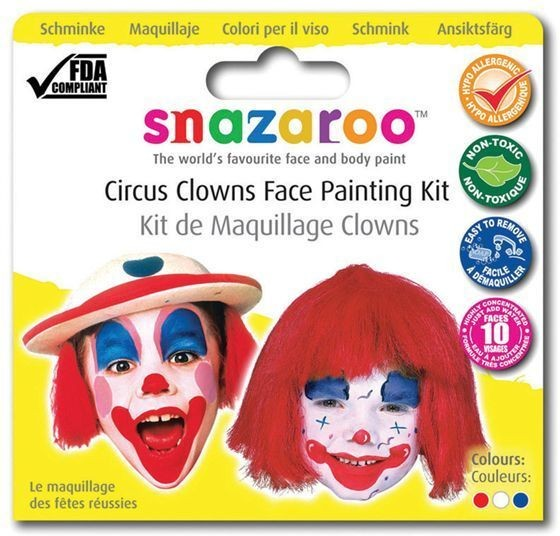 Snazaroo Theme Pack Clown (Clowns Fancy Dress Face Paint)