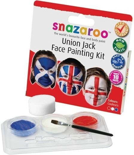 Union Jack Face Painting Kit (Clowns , Cultures Fancy Dress Face Paint)