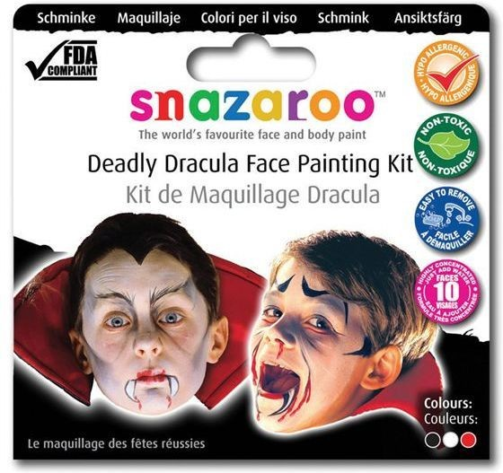 Snazaroo Theme Pack - Dracula (Halloween Face Paint)