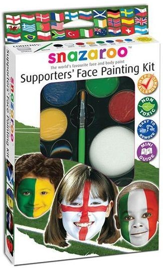 Supporters Face Paint Kit (8 Colours) (Cultures , Clowns Fancy Dress Face Paint)