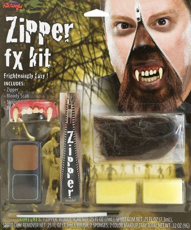 Werewolf Zipper Special Fx Kit Halloween Accessory
