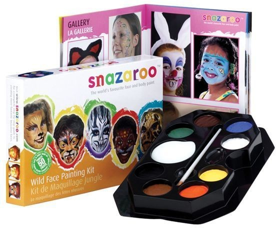 Wild Face Pallette (Clowns , Animals Fancy Dress Face Paint)