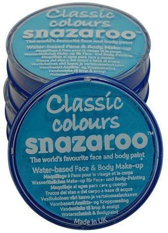 Snazaroo Turquoise 18Ml Tub (Clowns Fancy Dress Face Paint)